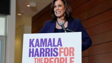 Senator Kamala Harris (D-CA) speaks to the media after announcing she will run for president of the United States at Howard University in Washington
