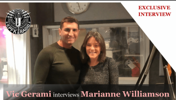 VIC GERAMI'S EXCLUSIVE INTERVIEW WITH MARIANNE WILLIAMSON FOR THE BLUNT POST WITH VIC ON KPFK