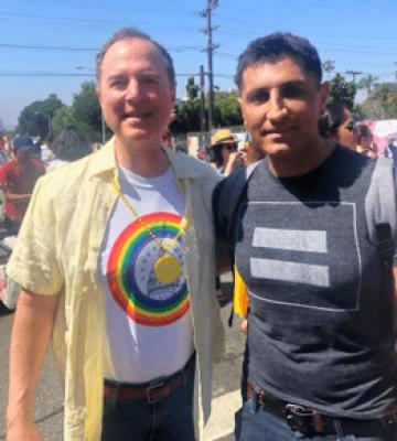 Congressman Adam Schiff and Vic Gerami