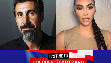 I stand With Artsakh and Armenia The Blunt Post Vic Gerami Kim Kardashian Serj Tankian